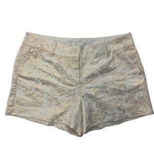 LC Lauren Conrad Ivory Brocade Shorts 14